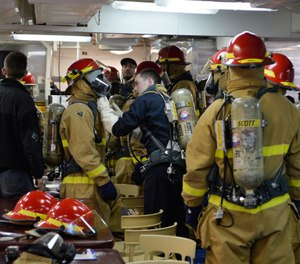 The goal of NFPA 1851 is straightforward: to maintain protective gear in a safe and usable condition, to identify and repair damaged gear, and to remove from service any protective gear elements that could cause injury, illness or death as a result of their condition. (Photo/DoD)