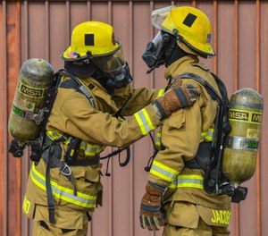 According to a recently published study from Brighton University in the United Kingdom, up to 75% of women firefighters in the United States and Canada reported that they did not always have access to full protective gear that properly fit them. (Photo/USAF)