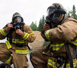 Outfitting new recruits, providing backup PPE ensembles and replacing firefighter gear, SCBA and equipment is a significant expenditure for any fire department. (Photo/USAF)